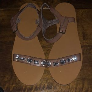 NWOT JCrew Embellished Strap Sandals